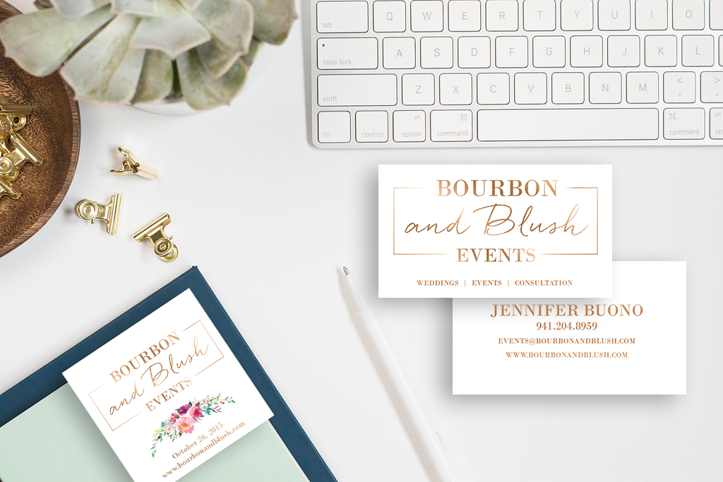 Bourbon & Blush marketing materials