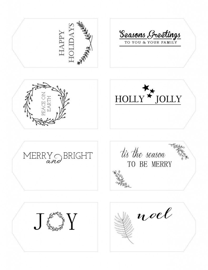 Holiday Gift Tags Printables | Writefully Simple | www.writefullysimple.com